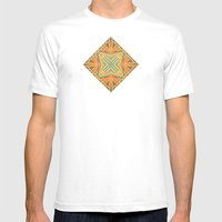 Deco abstraction Mens Fitted Tee White SMALL
