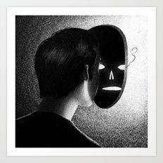 Drawlloween 2013: Mask Art Print