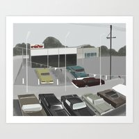 car lot Art Print