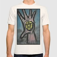 Ace of Pentacles Mens Fitted Tee Natural SMALL