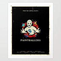 Paintballers Art Print