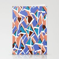 Abstract angular pattern Stationery Cards