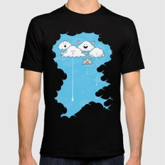 Young Clouds fooling around Mens Fitted Tee Black SMALL