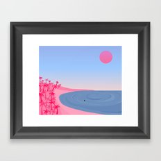 Never Alone // On Your Own Framed Art Print