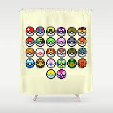 Gotta Catch'Em All Shower Curtain