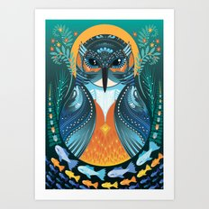 The Nesting Fisher King Art Print
