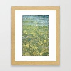 water ripples Framed Art Print