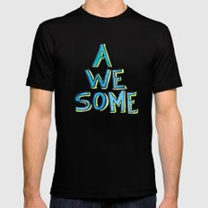 Awesome SMALL Mens Fitted Tee Black