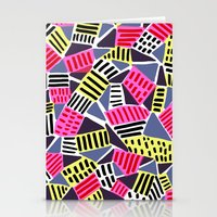 Triangles and Dashes Stationery Cards