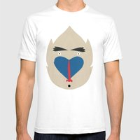 Baboon Mens Fitted Tee White SMALL