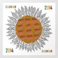 Calendar 2014 - Sunflowe… Art Print