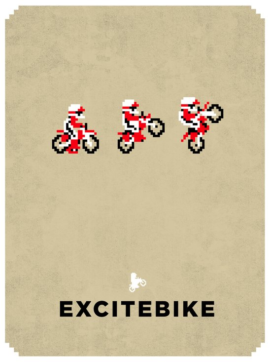 Excitebike Art Print