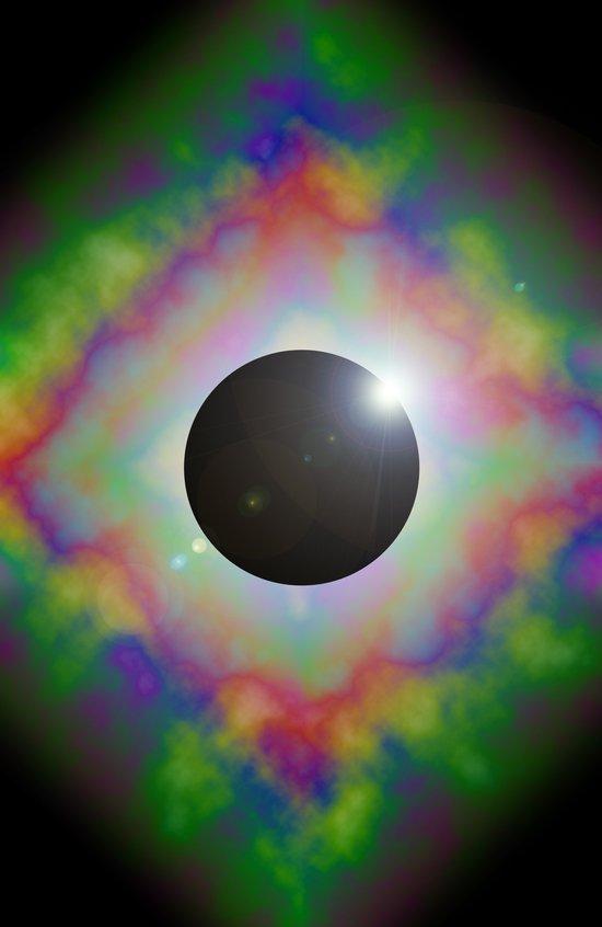 Eclipsed Eye Art Print