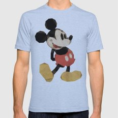 Mr. Mickey Mouse Mens Fitted Tee Athletic Blue SMALL