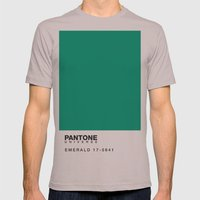 Pantone 17-5641 Mens Fitted Tee Cinder SMALL