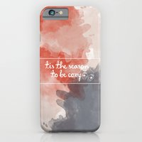 iPhone & iPod Case featuring Tis the season to be cozy! by Casey Lynn Designs