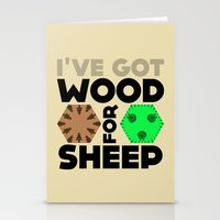 Wood For Sheep (Catan Se… Stationery Cards