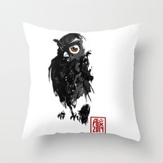 Hibou / Owl Throw Pillow