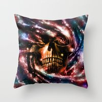 Space Skull II Throw Pillow