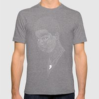 Nina Simone Mens Fitted Tee Tri-Grey SMALL
