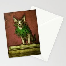 Green collar Stationery Cards
