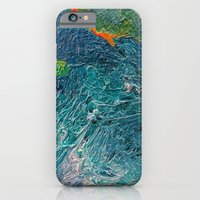 Ocean Depth abstract painting photograph iPhone 6 Slim Case