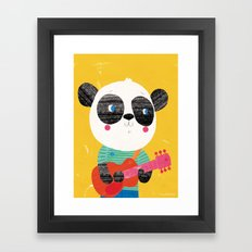 Guitar Panda Framed Art Print