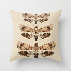 Acherontia Lachesis Throw Pillow