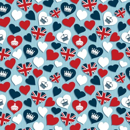 UK Hearts Canvas Print