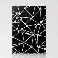Abstract Heart Zoom Blac… Stationery Cards