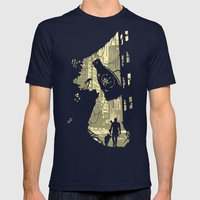 Life after vault 111 Mens Fitted Tee Navy SMALL