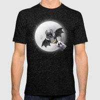 Bat Bat Mens Fitted Tee Tri-Black SMALL