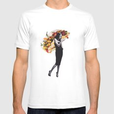 Untitled 2 SMALL White Mens Fitted Tee