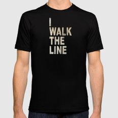 I Walk The Line Mens Fitted Tee Black SMALL