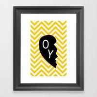 Oy Framed Art Print