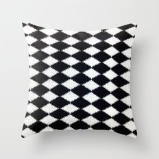 B & W Throw Pillow