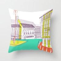 Urban Life II Throw Pillow