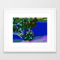Sakura Pixel Framed Art Print