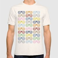 Rainbow Shades Mens Fitted Tee Natural SMALL