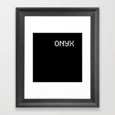 Onyx (BLCK #7) Framed Art Print