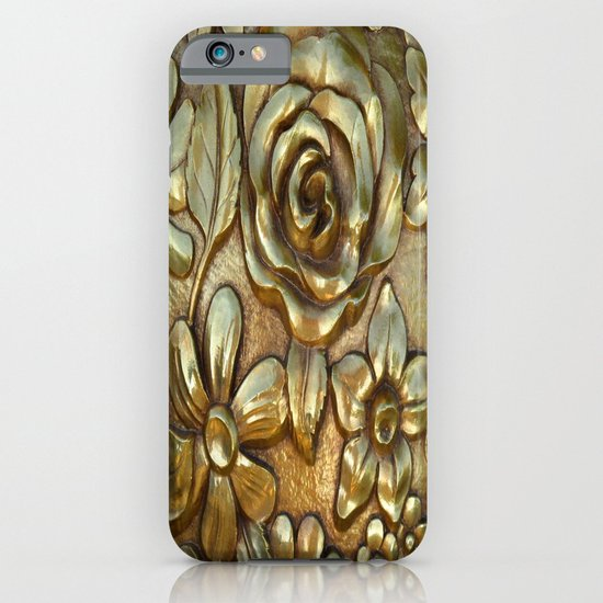 Golden Rose Pattern Art iPhone & iPod Case