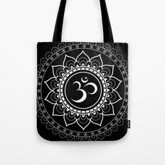 Om Mandala : Black & White Tote Bag