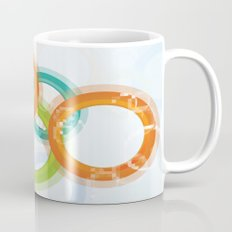 Digital Geometric Circles Mug