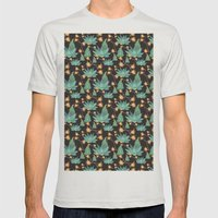 Desert Bloom Mens Fitted Tee Silver SMALL