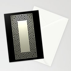 Greek Key black Stationery Cards
