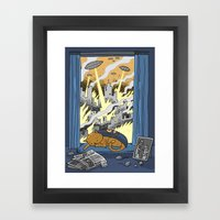 Supercat Framed Art Print