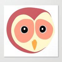 Owl Vermelho Canvas Print