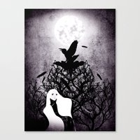 12 Crows/ The Nest Canvas Print