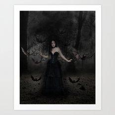 Mistress of the Bats Art Print