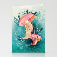 Jellyfish Tangling Stationery Cards
